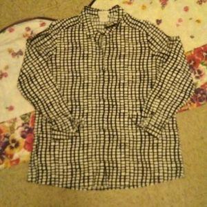 BEAU CHEMISE Shirt with Lower Front Pocket, LARGE